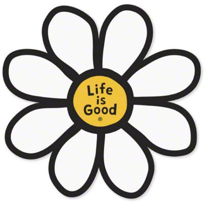 Life is Good Daisy Die Cut Sticker