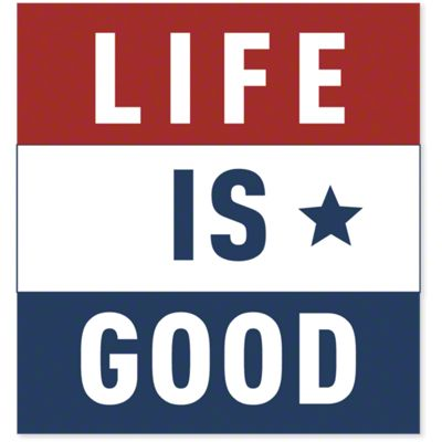 Life is Good Red/White/Blue Square Sticker