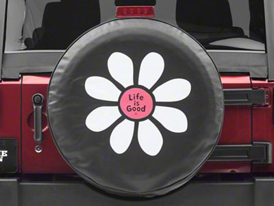 Life is Good Daisy Lig Spare Tire Cover (87-19 Jeep Wrangler YJ, TJ, JK & JL)