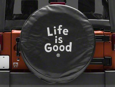Life is Good Evolved Stack Spare Tire Cover (87-19 Jeep Wrangler YJ, TJ, JK & JL)