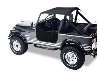 Bestop Traditional Bikini Top - Charcoal (87-91 Jeep Wrangler YJ)