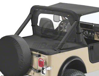 Bestop Duster Deck Cover - Black Crush (87-91 Jeep Wrangler YJ)