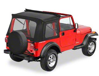 Bestop Sunrider Complete Soft Top - Black Denim (87-95 Jeep Wrangler YJ)