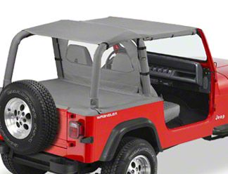 Bestop Safari-Style Strapless Bikini Top - Charcoal (92-95 Jeep Wrangler YJ)