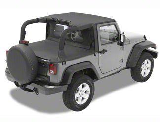 Bestop Targa-Style Strapless Bikini Top - Mesh (07-18 Jeep Wrangler JK 2 Door)