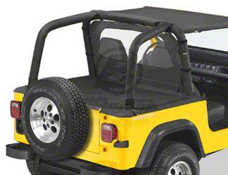 Bestop Duster Deck Cover - Black Denim (92-95 Jeep Wrangler YJ w/ Soft Top)