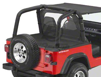 Bestop Duster Deck Cover - Black Diamond (92-95 Jeep Wrangler YJ w/ Soft Top)
