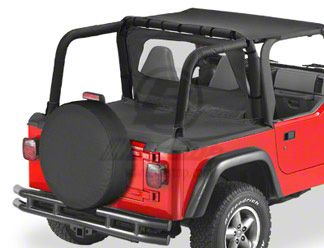 Bestop Duster Deck Cover - Black Denim (97-02 Jeep Wrangler TJ w/ Soft Top)