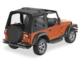 Bestop Sunrider Complete Soft Top - Black Denim (97-02 Jeep Wrangler TJ)
