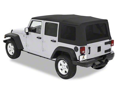 Bestop Supertop Classic Soft Top - Black Diamond (07-18 Jeep Wrangler JK 4 Door)