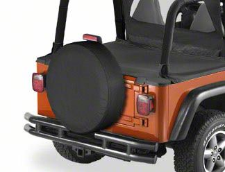 Bestop 30 in. Spare Tire Cover - Dark Tan (87-18 Jeep Wrangler YJ, TJ, JK & JL)