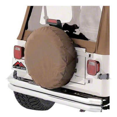 RT Off-Road Rough Trail Spare Tire Cover - Spice (87-18 Jeep Wrangler YJ, TJ, JK & JL)