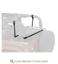Bestop HighRock 4x4 Lower Cargo Rack Bracket (03-06 Jeep Wrangler TJ, Excluding Unlimted; 07-18 Jeep Wrangler JK 2 Door)