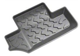 Bestop Rear Floor Mats - Black (07-18 Jeep Wrangler JK 2 Door)