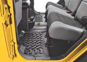 Bestop Rear Floor Mat - Black (07-18 Jeep Wrangler JK 4 Door)