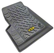 Bestop Front Floor Liners - Black (97-06 Jeep Wrangler TJ)
