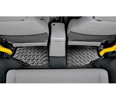 Bestop Rear Floor Mats - Black (97-06 Jeep Wrangler TJ)