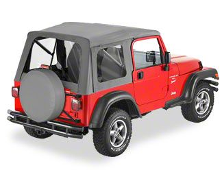 Bestop SuperTop Classic Replacement Skin w/ Tinted Windows - Black Diamond (97-06 Jeep Wrangler TJ)