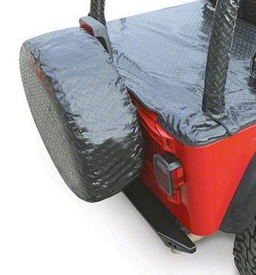 Vertically Driven Spare Tire Cover - Black (87-18 Jeep Wrangler YJ, TJ, JK & JL)