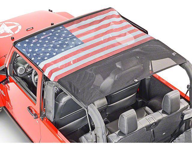 Vertically Driven KoolBreez Full-Length Sun Screen Brief Top - American Flag (10-18 Jeep Wrangler JK 2 Door)