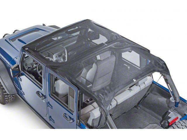 Vertically Driven KoolBreez Full-Length Sun Screen Brief Top - Black Mesh (07-09 Jeep Wrangler JK 4 Door)