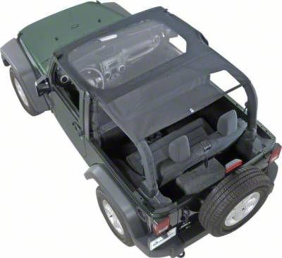 Vertically Driven KoolBreez Full-Length Sun Screen Brief Top - Black Mesh (97-02 Jeep Wrangler TJ)
