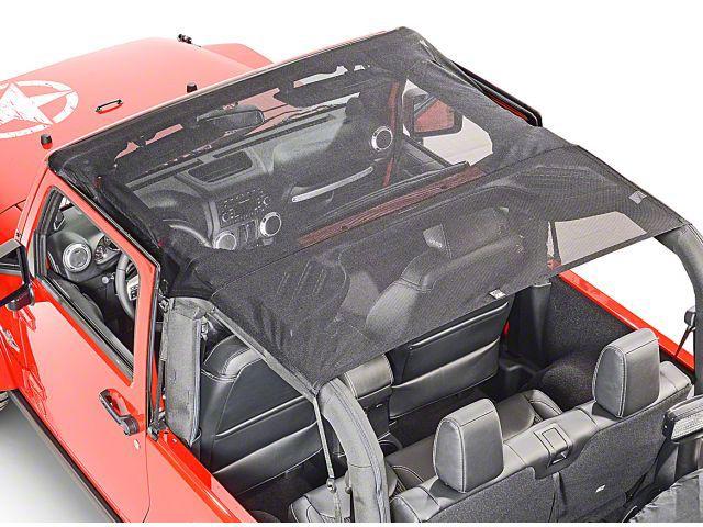 Vertically Driven KoolBreez Full-Length Sun Screen Brief Top - Pirate Flag (07-09 Jeep Wrangler JK 2 Door)