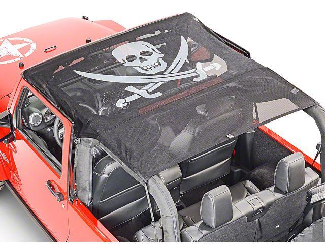 Vertically Driven KoolBreez Full-Length Sun Screen Brief Top - Pirate Flag (11-18 Jeep Wrangler JK 2 Door)