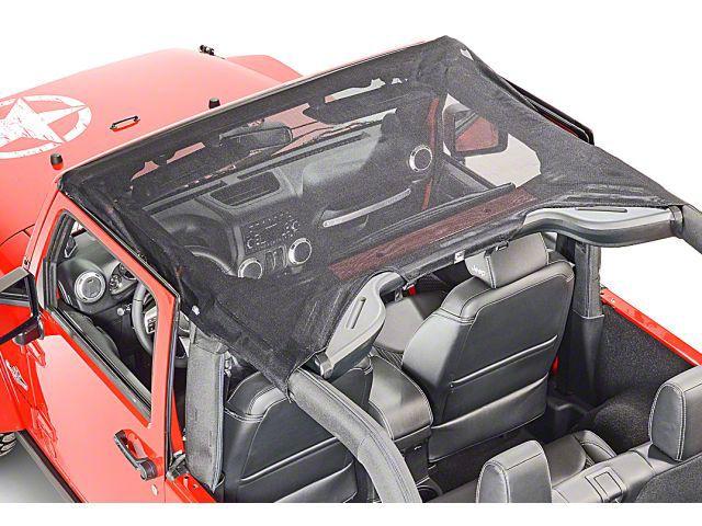 Vertically Driven KoolBreez Sun Screen Brief Top - Black Mesh (10-18 Jeep Wrangler JK 2 Door)