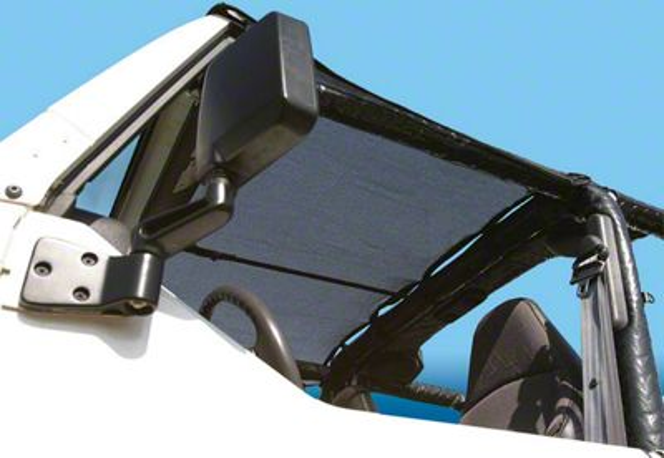 Vertically Driven KoolBreez Sun Screen Brief Top - Black Mesh (87-91 Jeep Wrangler YJ)