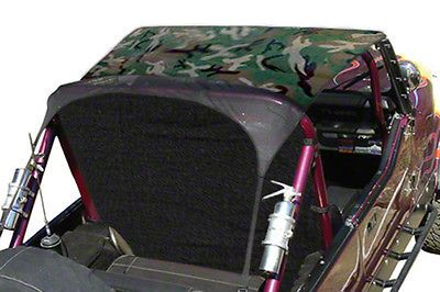 Vertically Driven KoolBreez Sun Screen Brief Top - Camouflage (87-91 Jeep Wrangler YJ)