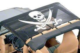 Vertically Driven KoolBreez Sun Screen Brief Top - Pirate Flag (87-91 Jeep Wrangler YJ)