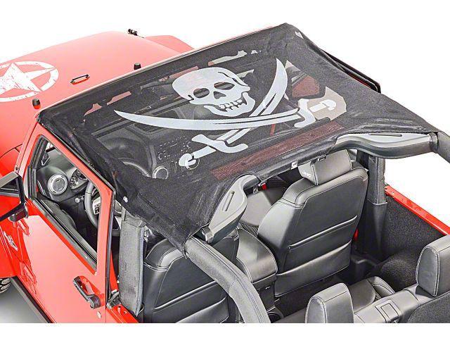 Vertically Driven KoolBreez Sun Screen Brief Top - Pirate Flag (97-02 Jeep Wrangler TJ)