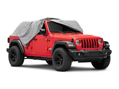 Vertically Driven Full Month Cab Cover - Gray (07-18 Jeep Wrangler JK 4 Door)