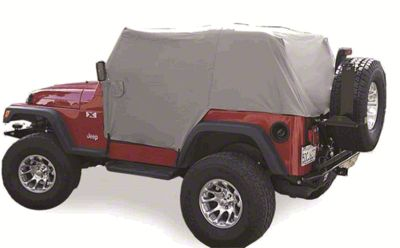 Vertically Driven Full Month Cab Cover - Gray (92-06 Jeep Wrangler YJ & TJ, Excluding Unlimited)