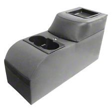 Vertically Driven Padded Catch-All Locking Console - Gray (87-06 Jeep Wrangler YJ & TJ)