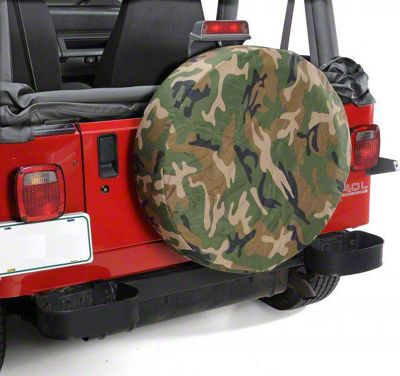 Vertically Driven 27-29 in. Spare Tire Cover - Camouflage (87-18 Jeep Wrangler YJ, TJ, JK & JL)