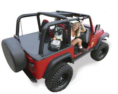 Vertically Driven Sport Roll Bar Cover - Black (97-02 Jeep Wrangler TJ)