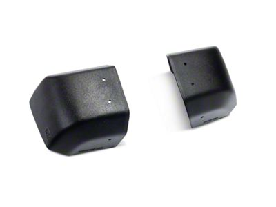 Vertically Driven Stubby Modular Stock Bumper End Caps - Black (07-18 Jeep Wrangler JK)