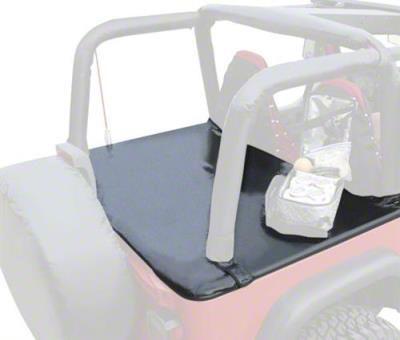 Vertically Driven Tonneau Cover - Black Diamond Plate (92-95 Jeep Wrangler YJ w/ Hard Top)
