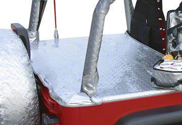 Vertically Driven Tonneau Cover - Silver Diamond Plate (92-95 Jeep Wrangler YJ w/ Hard Top)
