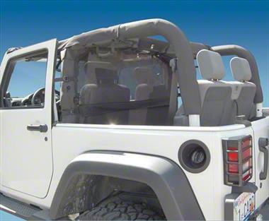 Vertically Driven WindStopper Wind Screen - Black Mesh (07-11 Jeep Wrangler JK 2 Door)