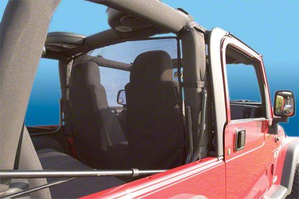 Vertically Driven WindStopper Wind Screen - Pirate Flag (87-06 Jeep Wrangler YJ & TJ)
