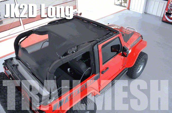 SpiderWeb Shade Extended Trail Mesh ShadeTop - Gray (07-18 Jeep Wrangler JK 2 Door)