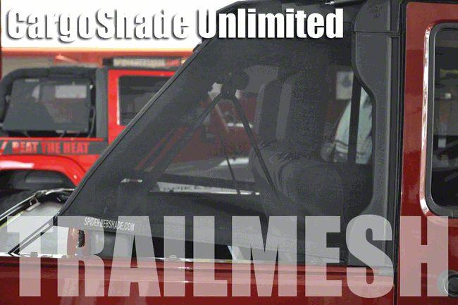 SpiderWeb Shade Trail Mesh Cargo Shade - Red (07-18 Jeep Wrangler JK 4 Door)