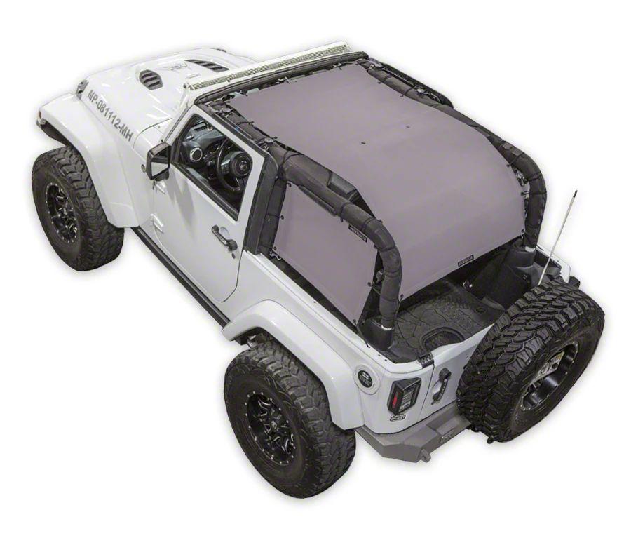 SpiderWeb Shade ShadeCage Trail Mesh Top - Gray (07-18 Jeep Wrangler JK 2 Door)