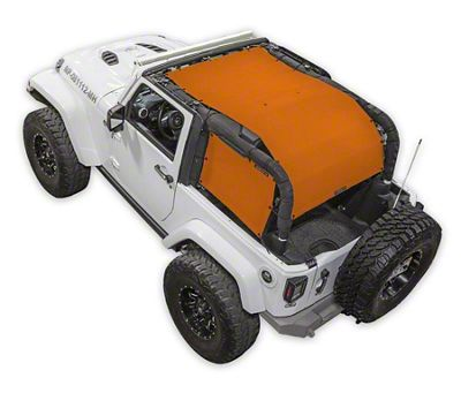 SpiderWeb Shade ShadeCage Trail Mesh Top - Orange (07-18 Jeep Wrangler JK 2 Door)
