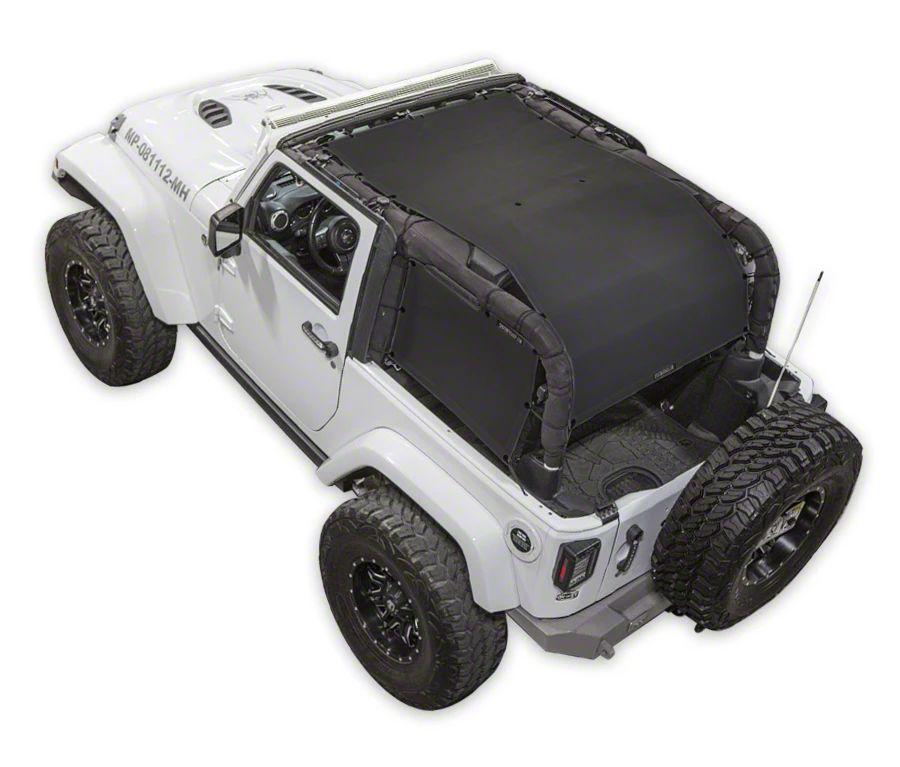 SpiderWeb Shade ShadeCage Trail Mesh Top - Black (07-18 Jeep Wrangler JK 2 Door)
