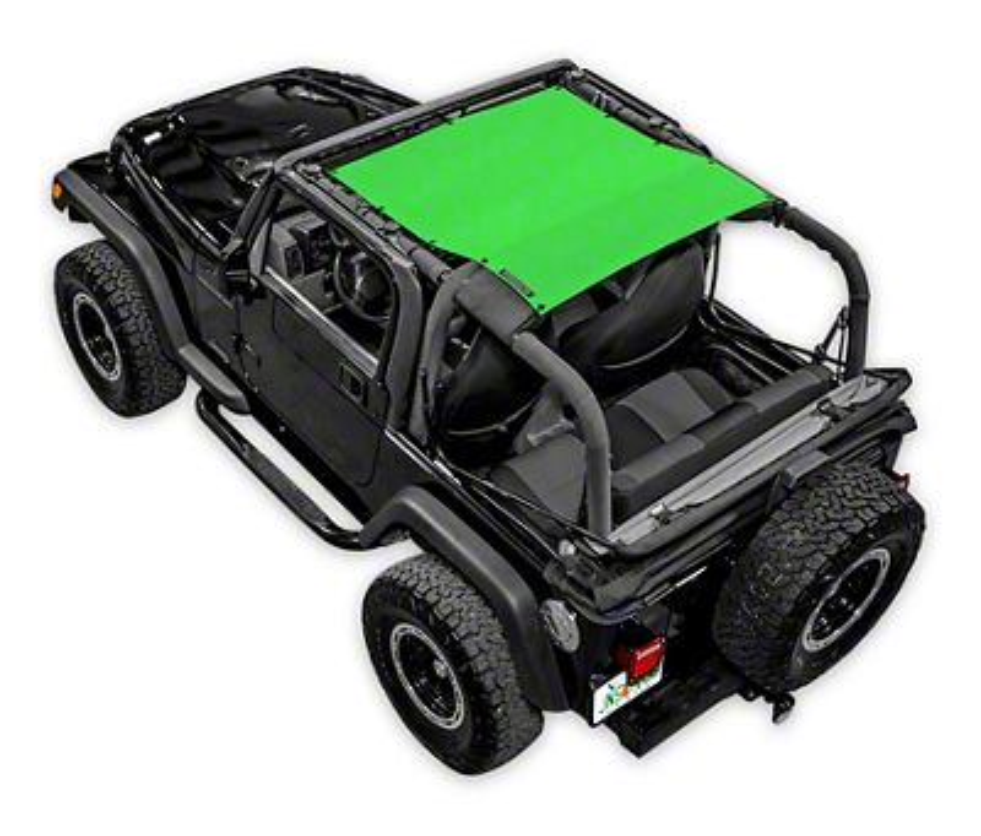 SpiderWeb Shade Krawler Trail Mesh Top - Green (97-06 Jeep Wrangler TJ)
