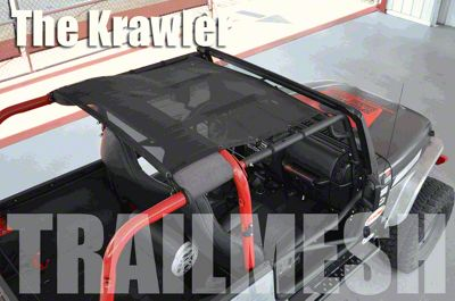 SpiderWeb Shade Krawler Trail Mesh Top - Orange (97-06 Jeep Wrangler TJ)